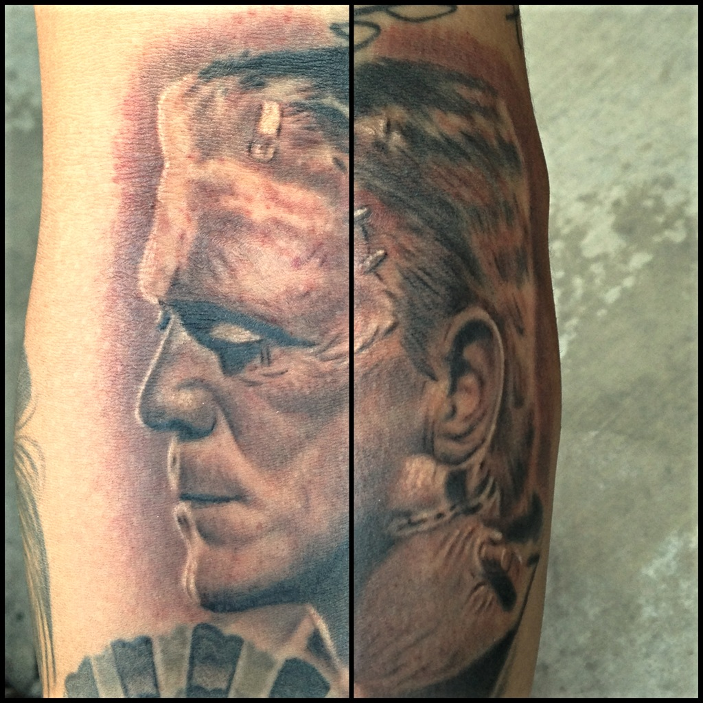 Frankenstein tattoo by Carlos Macedo