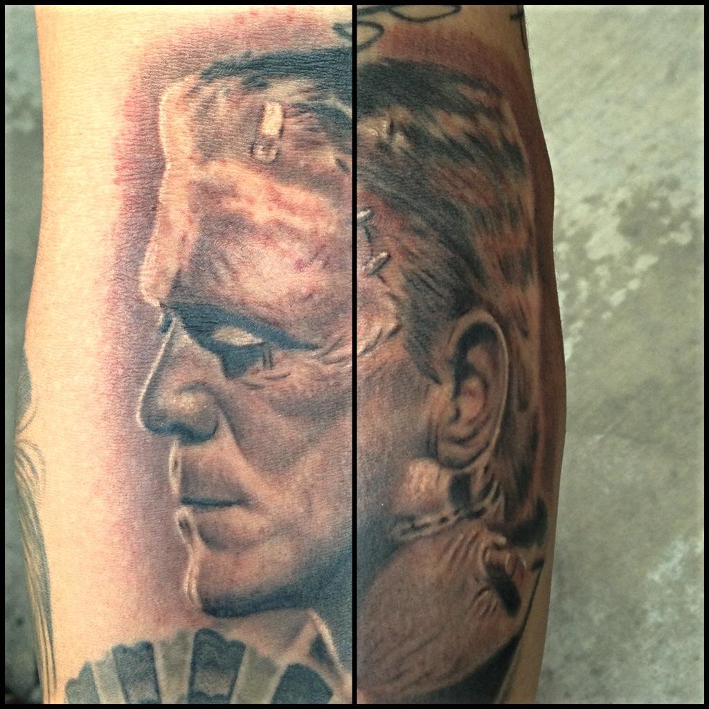 Frankenstein tattoo by Carlos Macedo